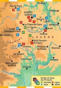Le pays d'Aumont-Aubrac à pied