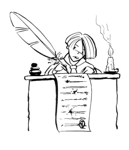 Ecrire plume