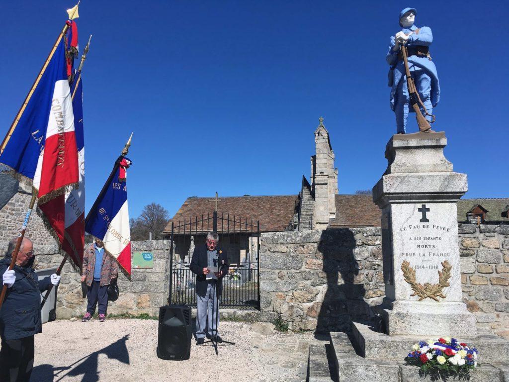 Commémoration du 19 mars 1962, au Fau de Peyre